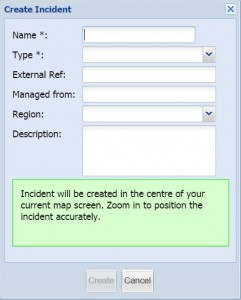 Create an incident screen image