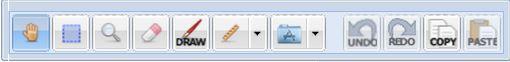 Main tool bar screen image