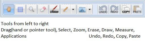 Main Tool bar screen image and list