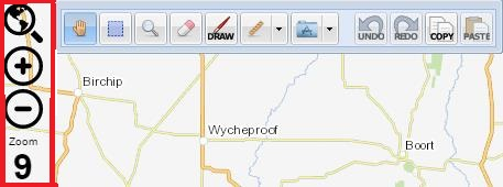 Map Controls screen image